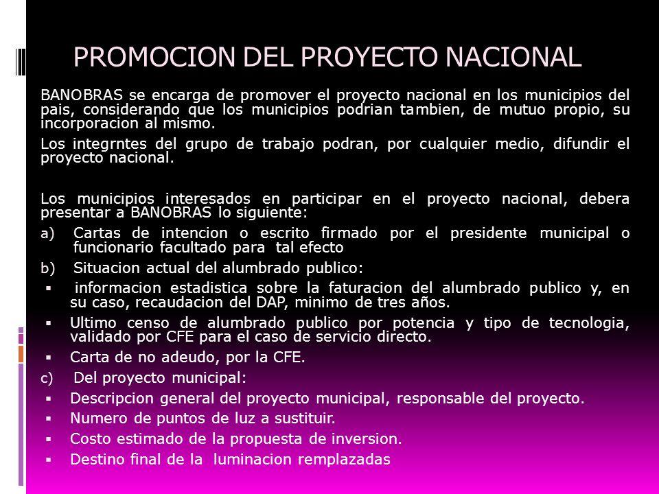 PROMOCION DEL PROYECTO NACIONAL