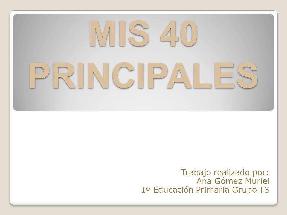 Trabajo realizado por: Ana Gómez Muriel 1º Educación Primaria Grupo T3