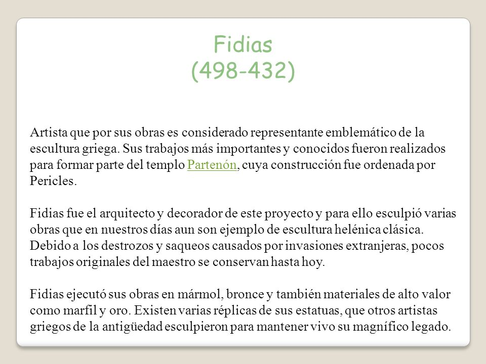 Fidias (498-432)