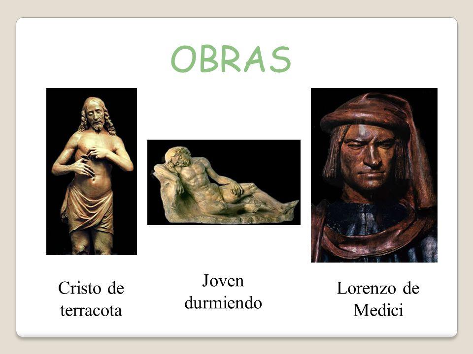 OBRAS Joven durmiendo Cristo de terracota Lorenzo de Medici