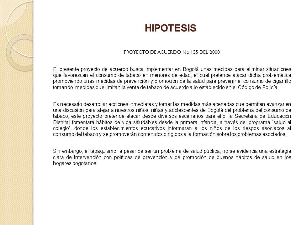 PROYECTO DE ACUERDO No 135 DEL 2008