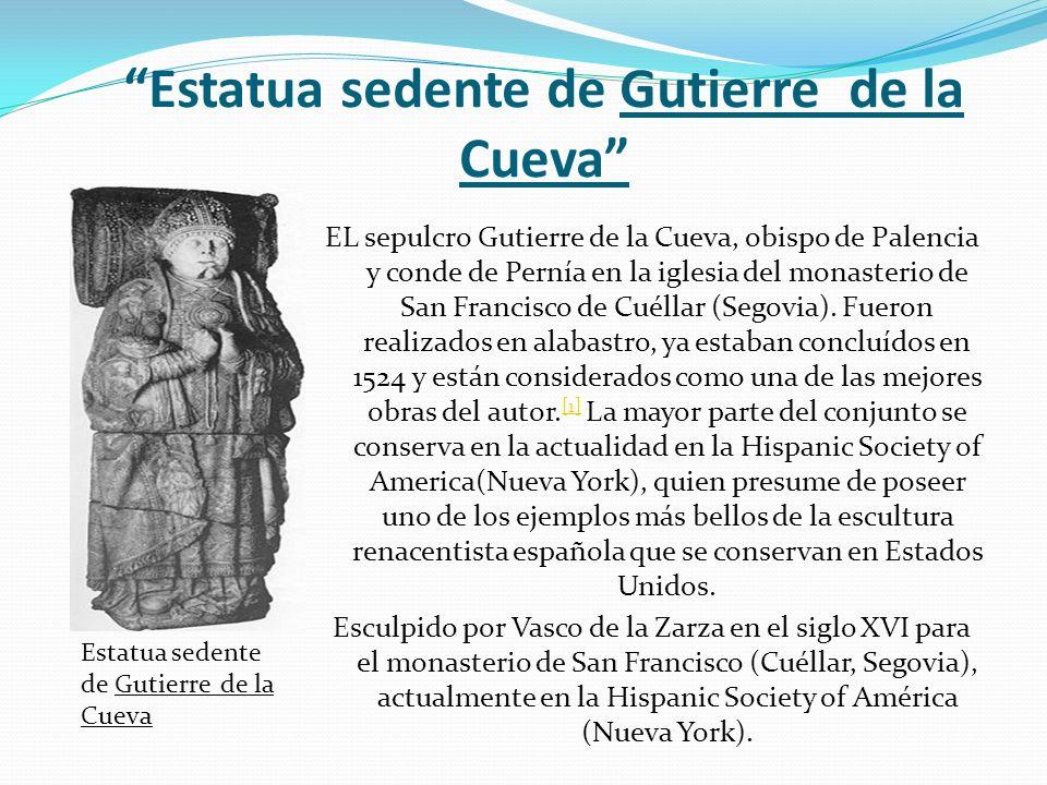 Estatua sedente de Gutierre de la Cueva