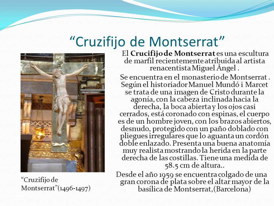 Cruzifijo de Montserrat