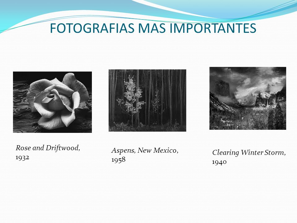 FOTOGRAFIAS MAS IMPORTANTES