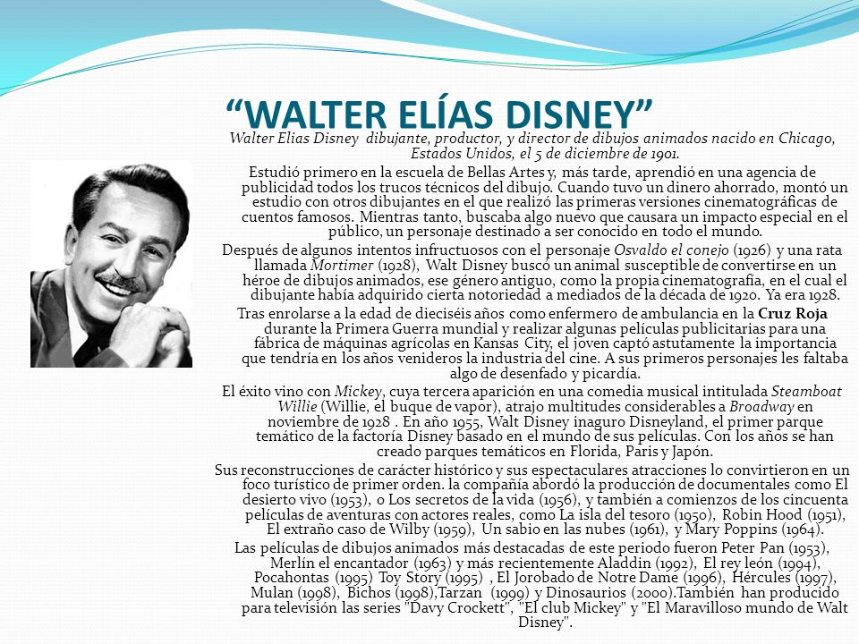 WALTER ELÍAS DISNEY