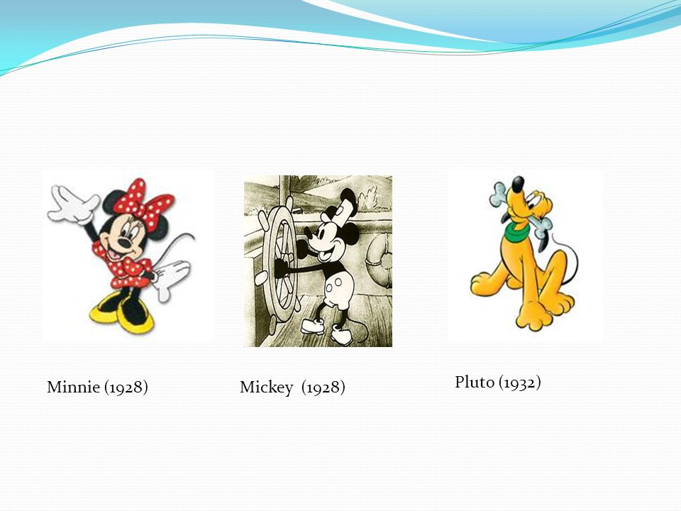 Pluto (1932) Minnie (1928) Mickey (1928)