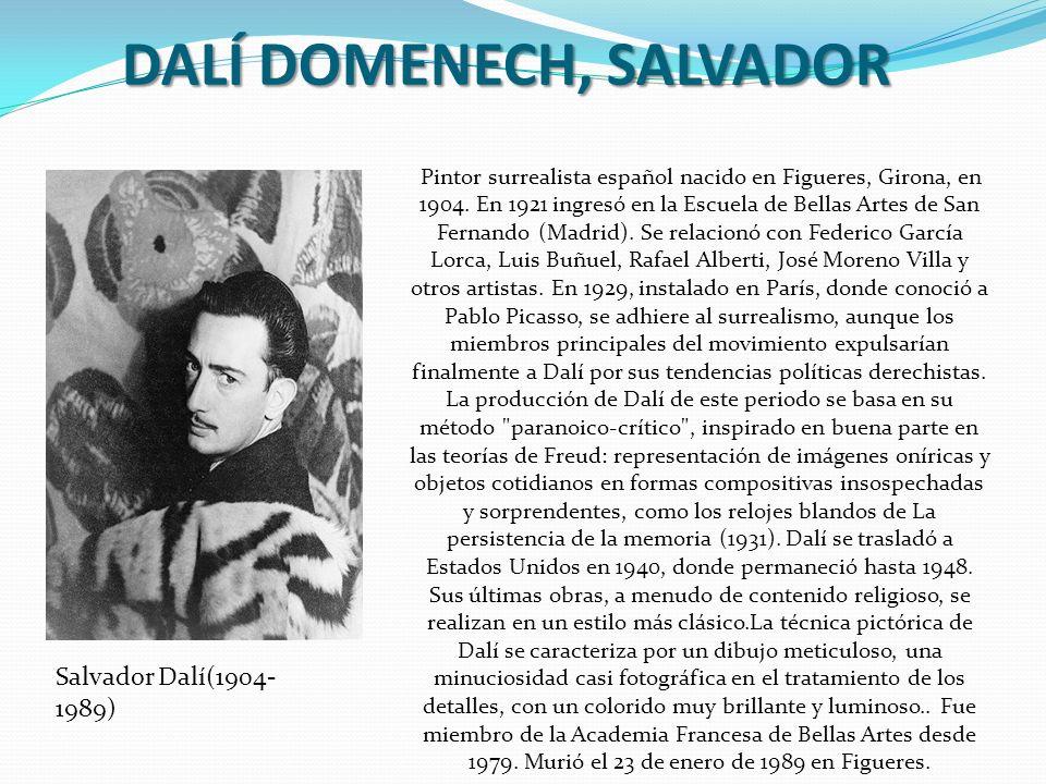 DALÍ DOMENECH, SALVADOR