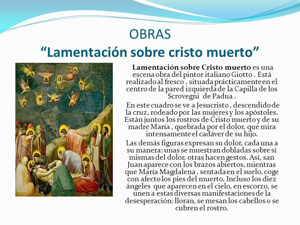OBRAS Lamentación sobre cristo muerto