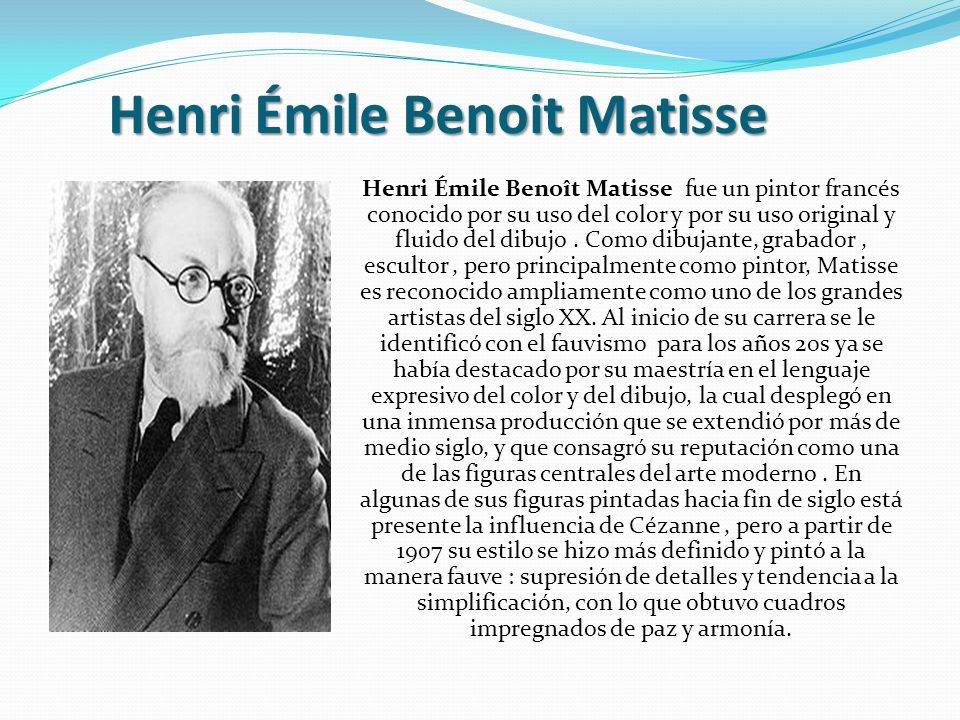 Henri Émile Benoit Matisse