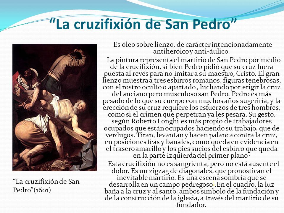 La cruzifixión de San Pedro