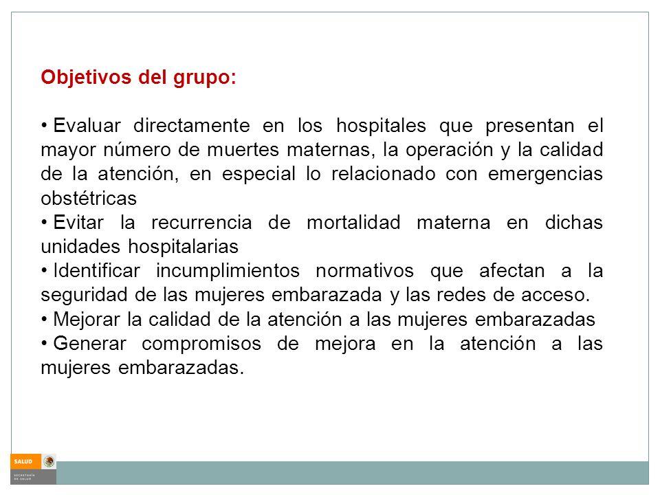 Objetivos del grupo: