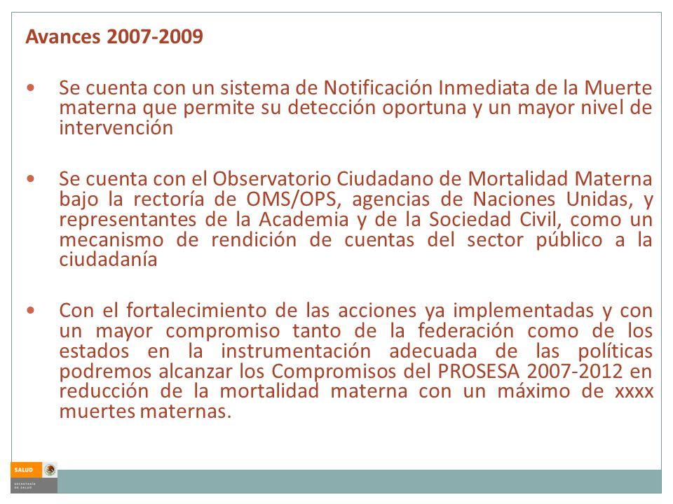 Avances 2007-2009