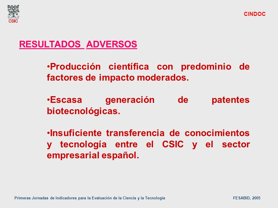 Producción científica con predominio de factores de impacto moderados.