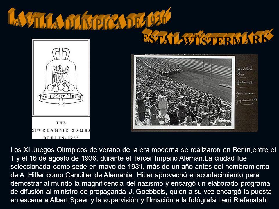 LA VILLA OLÍMPICA DE 1936 ESTAL WÜSTERMARK