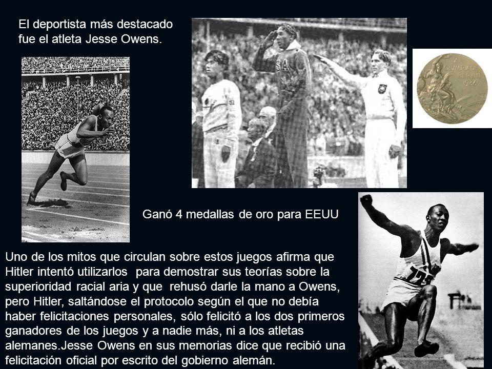 El deportista más destacado fue el atleta Jesse Owens.