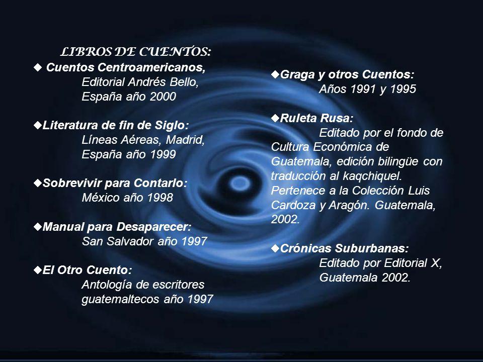 LIBROS DE CUENTOS: Cuentos Centroamericanos, Editorial Andrés Bello, España año 2000. Literatura de fin de Siglo: