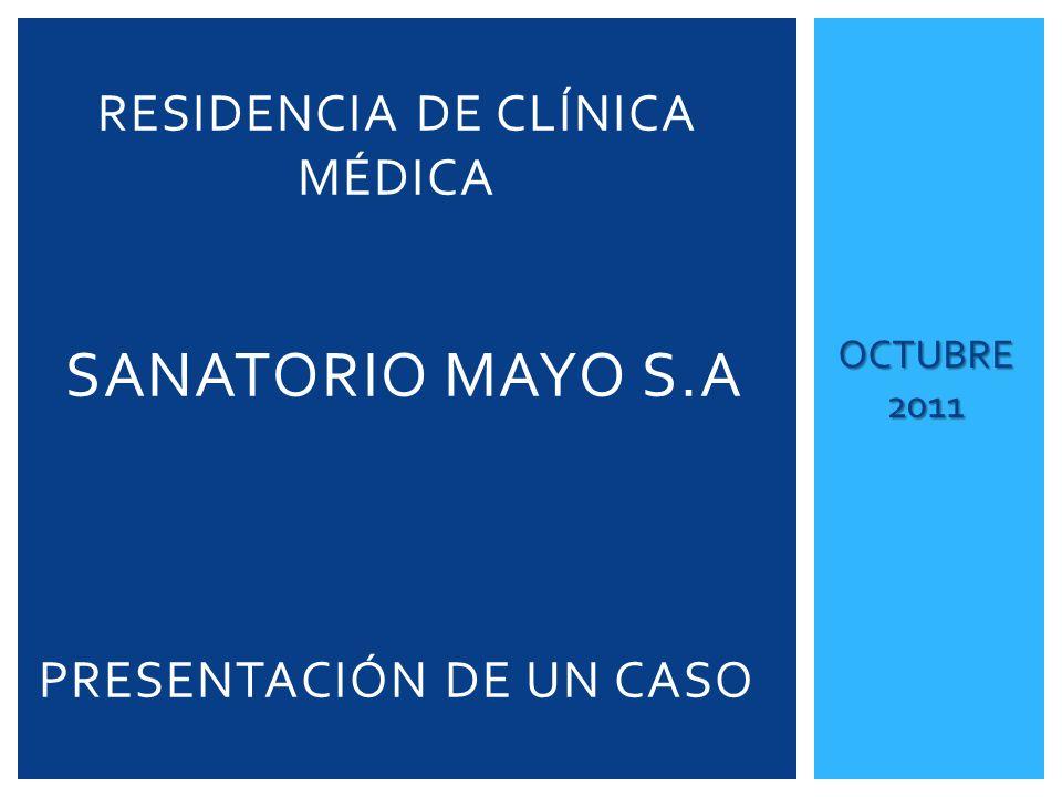 Residencia de Clínica Médica Sanatorio Mayo S