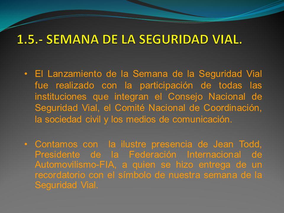 1.5.- SEMANA DE LA SEGURIDAD VIAL.