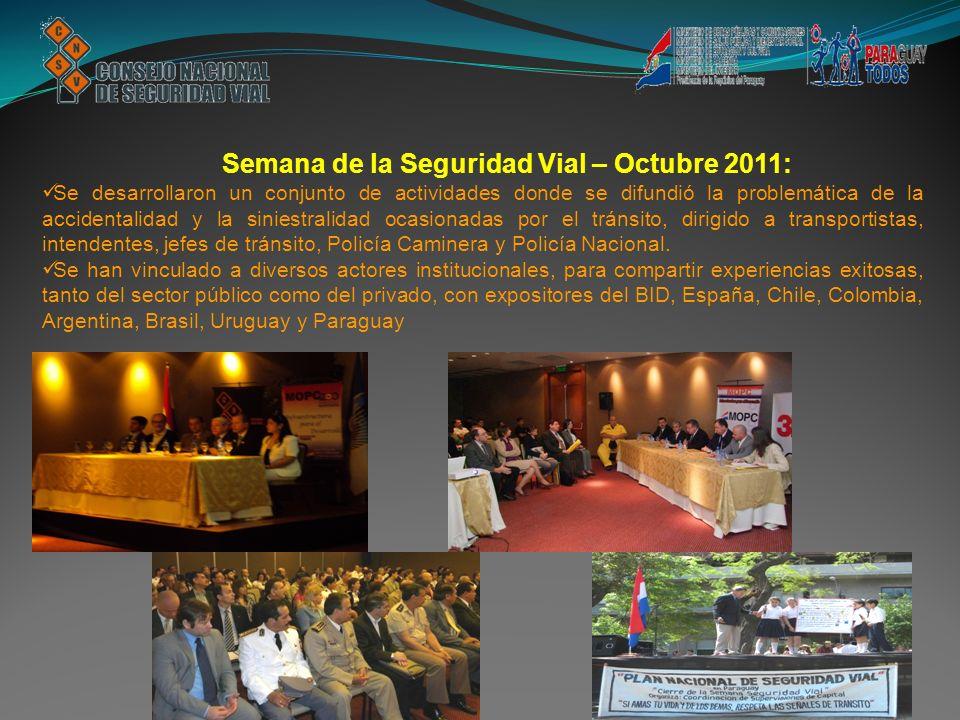 Semana de la Seguridad Vial – Octubre 2011: