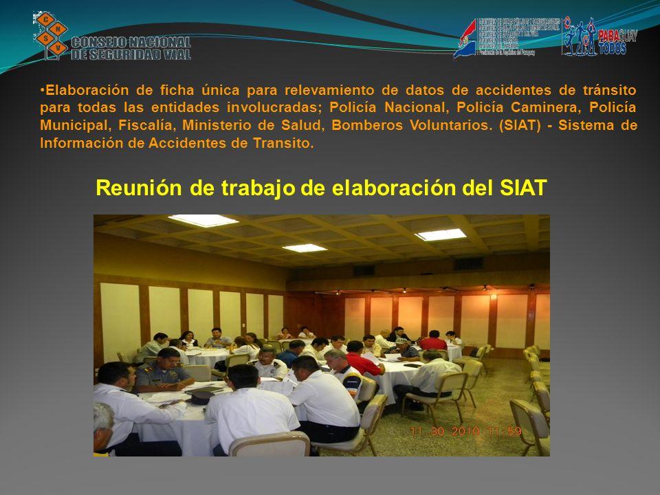 Reunión de trabajo de elaboración del SIAT