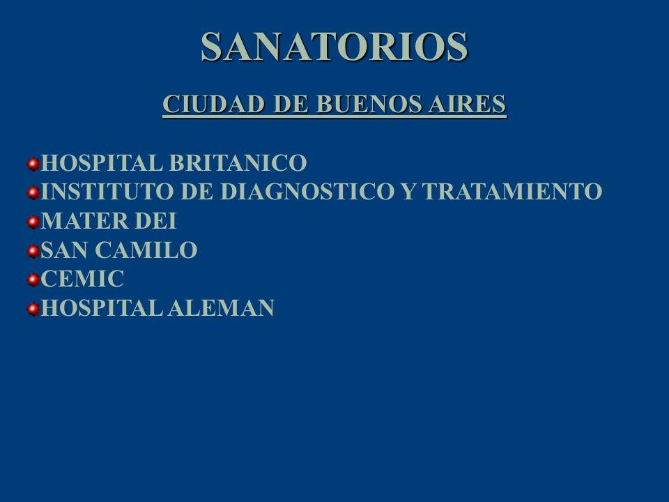 SANATORIOS CIUDAD DE BUENOS AIRES HOSPITAL BRITANICO