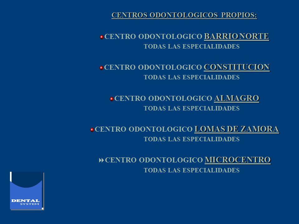 CENTROS ODONTOLOGICOS PROPIOS: CENTRO ODONTOLOGICO BARRIO NORTE