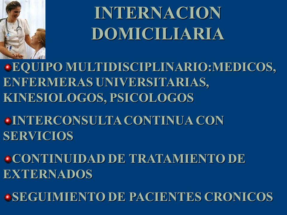 INTERNACION DOMICILIARIA