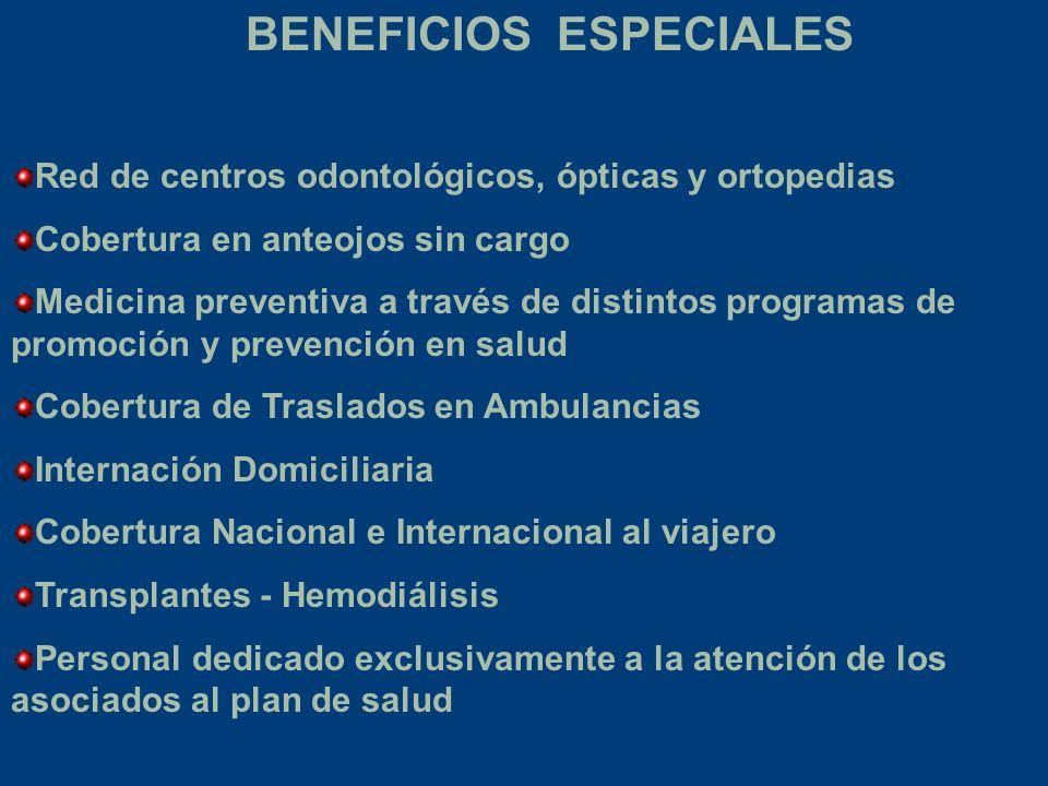 BENEFICIOS ESPECIALES
