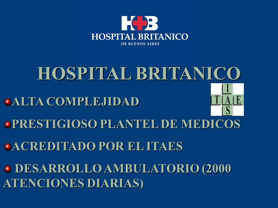 HOSPITAL BRITANICO ALTA COMPLEJIDAD PRESTIGIOSO PLANTEL DE MEDICOS