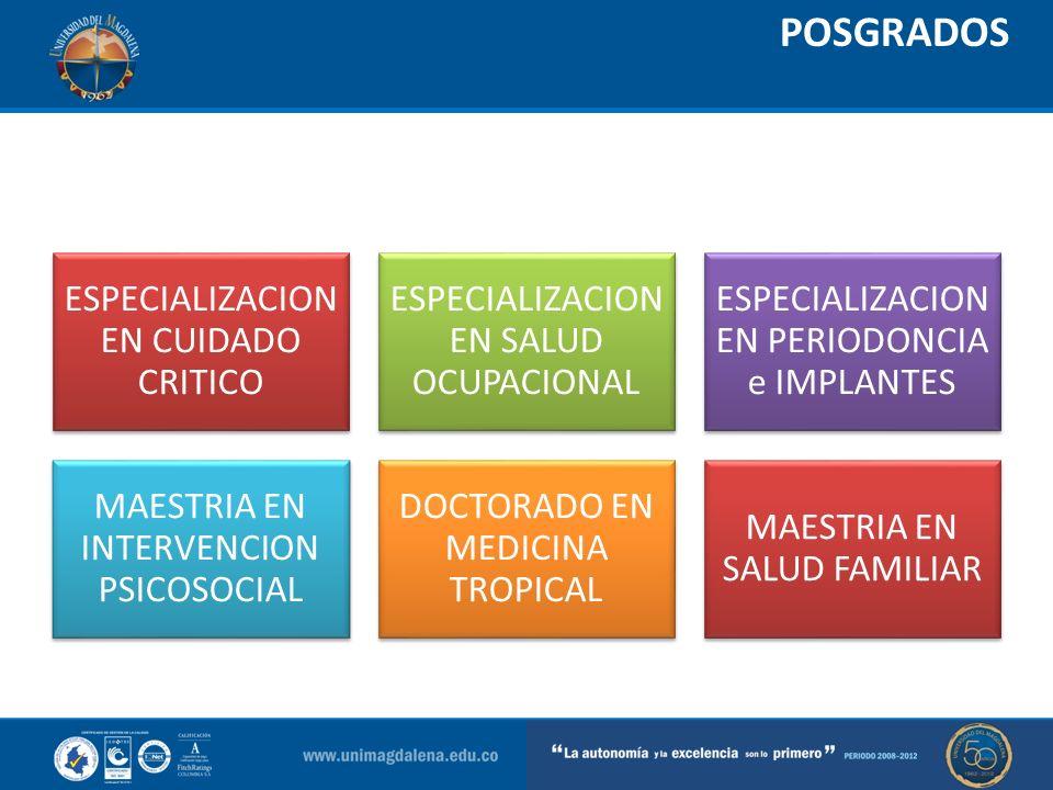 POSGRADOS ESPECIALIZACION EN CUIDADO CRITICO