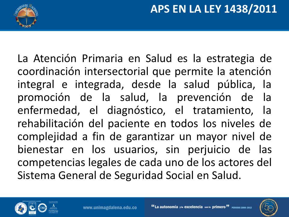 APS EN LA LEY 1438/2011