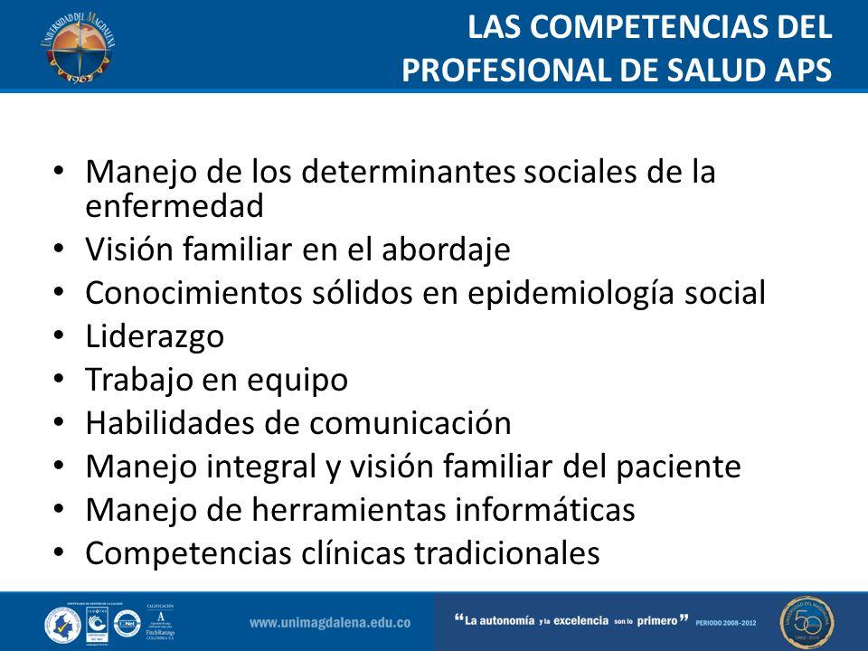 LAS COMPETENCIAS DEL PROFESIONAL DE SALUD APS Man