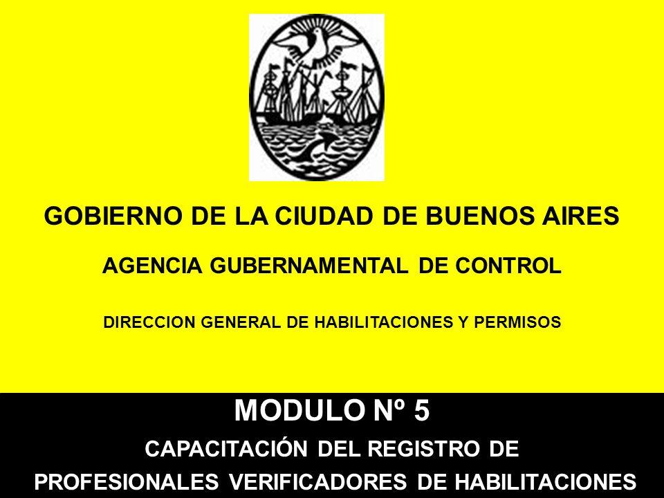 MODULO Nº 5 GOBIERNO DE LA CIUDAD DE BUENOS AIRES