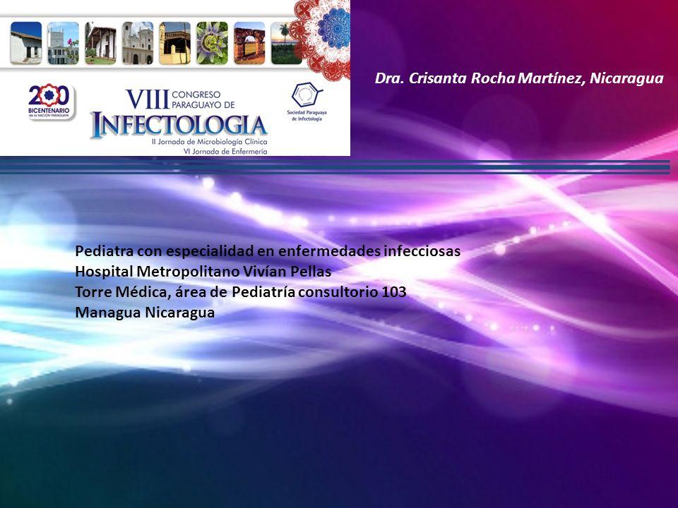 Dra. Crisanta Rocha Martínez, Nicaragua