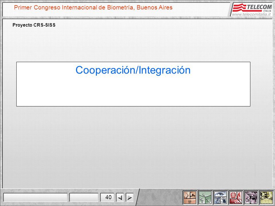 Cooperación/Integración