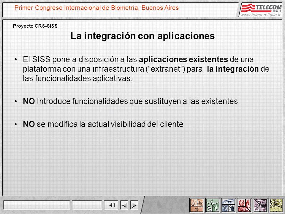 La integración con aplicaciones