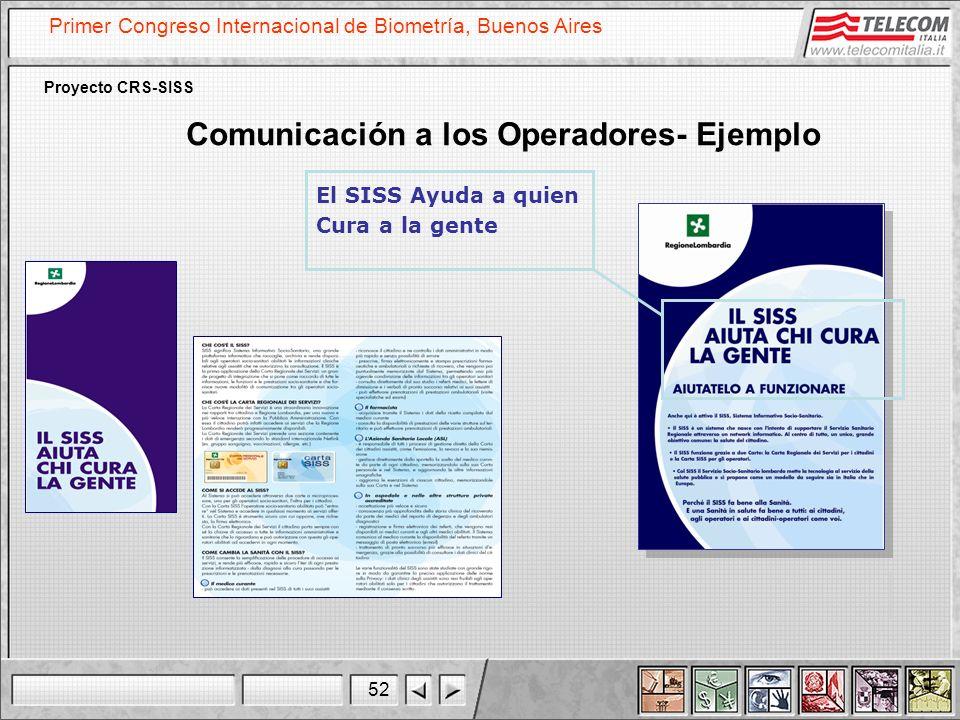 Comunicación a los Operadores- Ejemplo