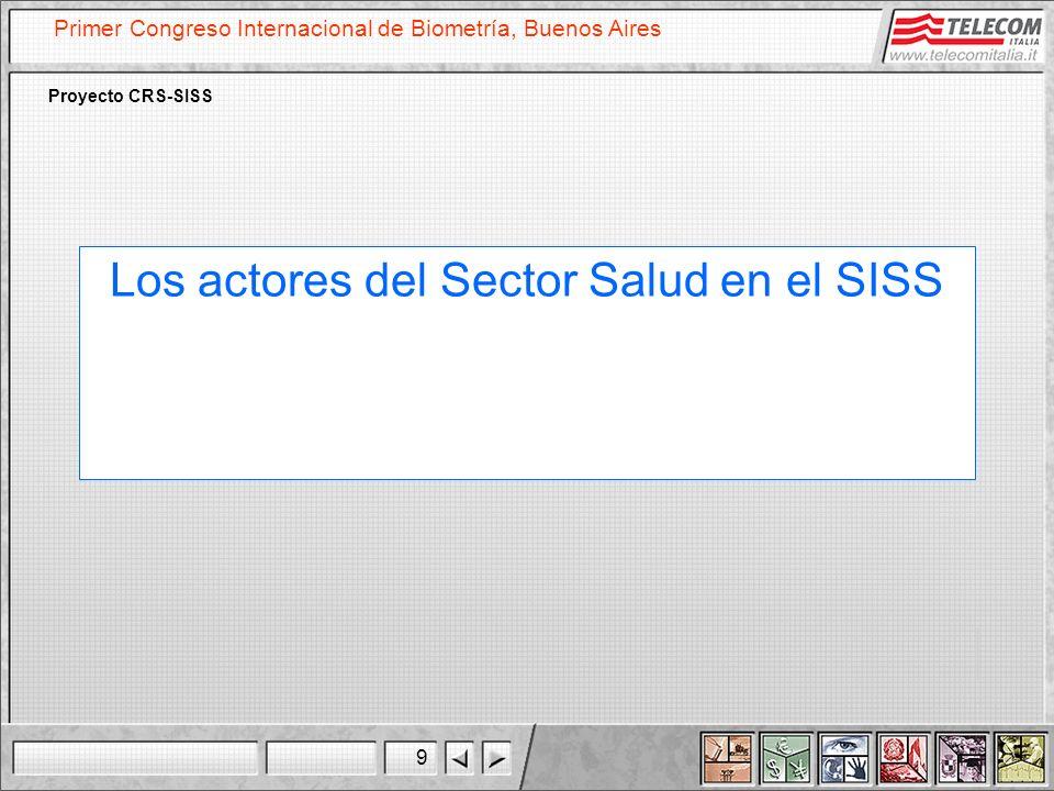 Los actores del Sector Salud en el SISS