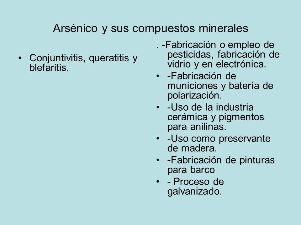 Arsénico y sus compuestos minerales