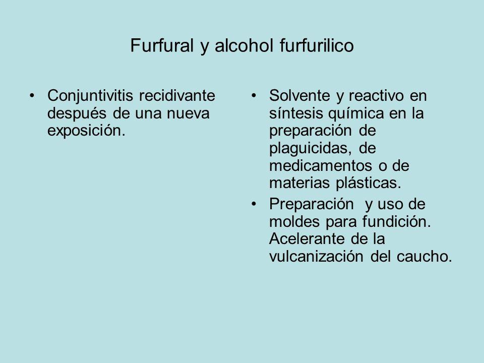 Furfural y alcohol furfurilico