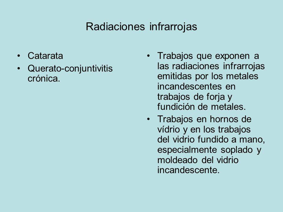 Radiaciones infrarrojas