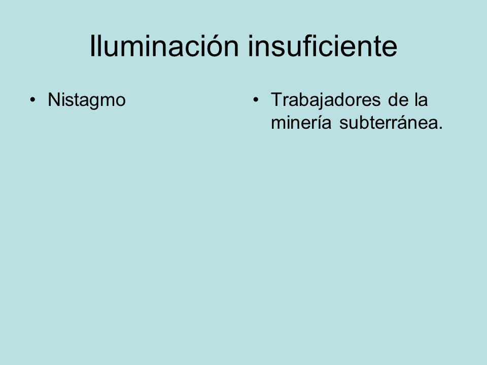 Iluminación insuficiente