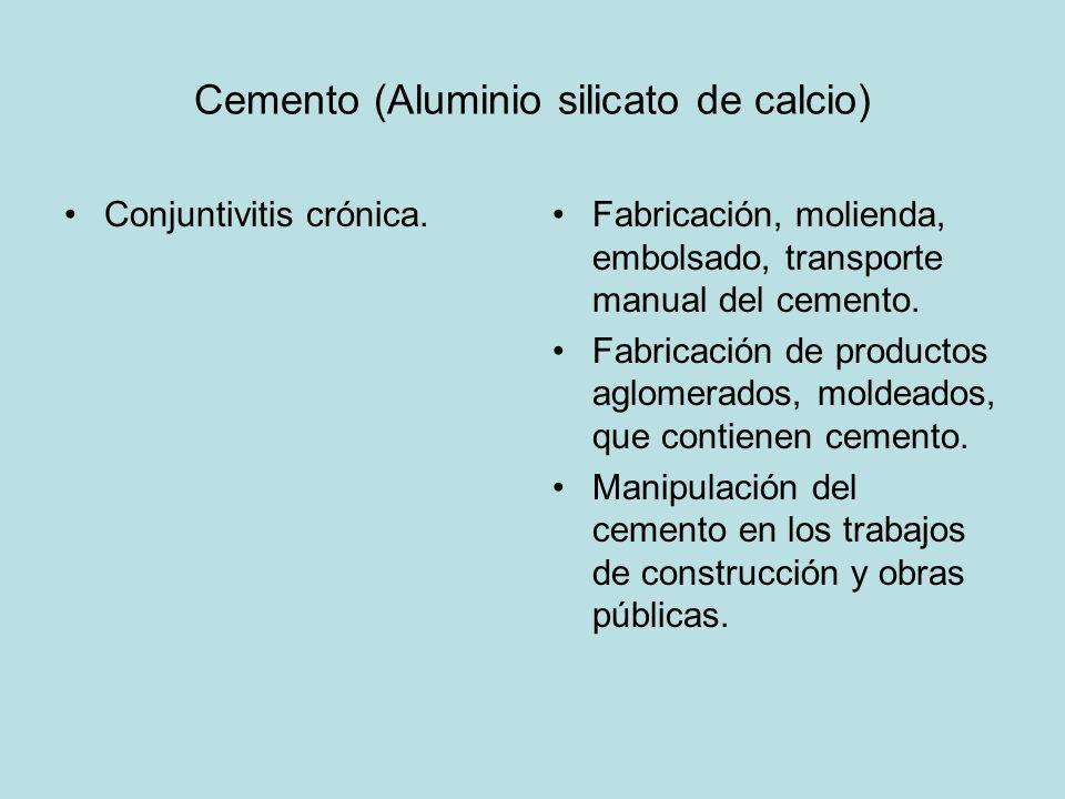 Cemento (Aluminio silicato de calcio)