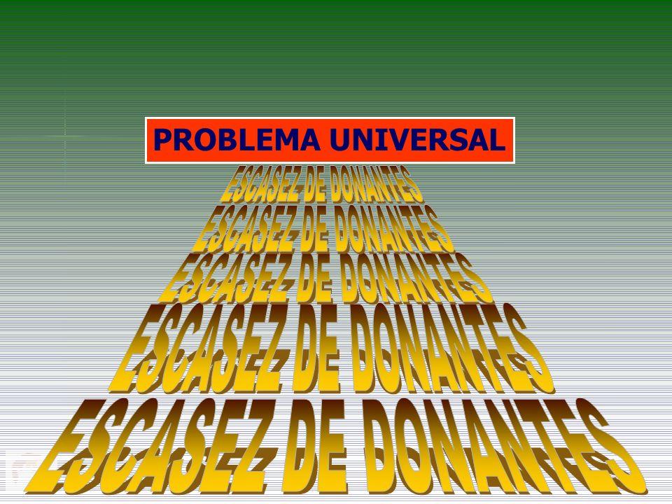 ESCASEZ DE DONANTES ESCASEZ DE DONANTES ESCASEZ DE DONANTES