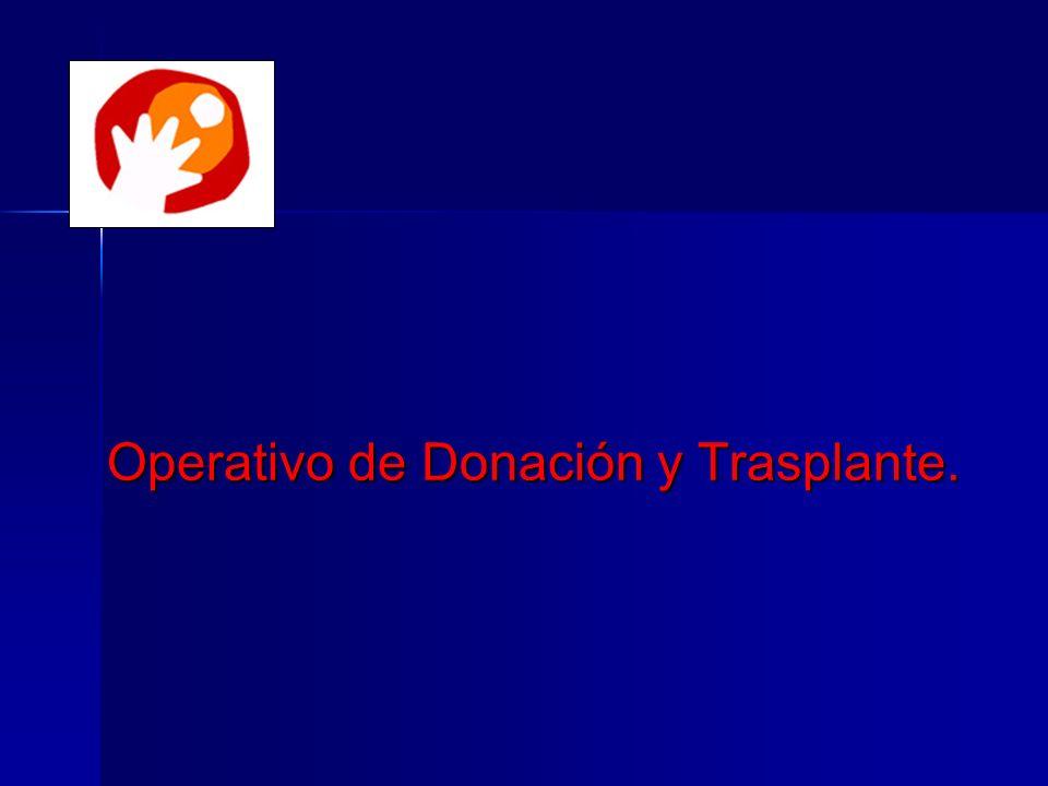 Operativo de Donación y Trasplante.