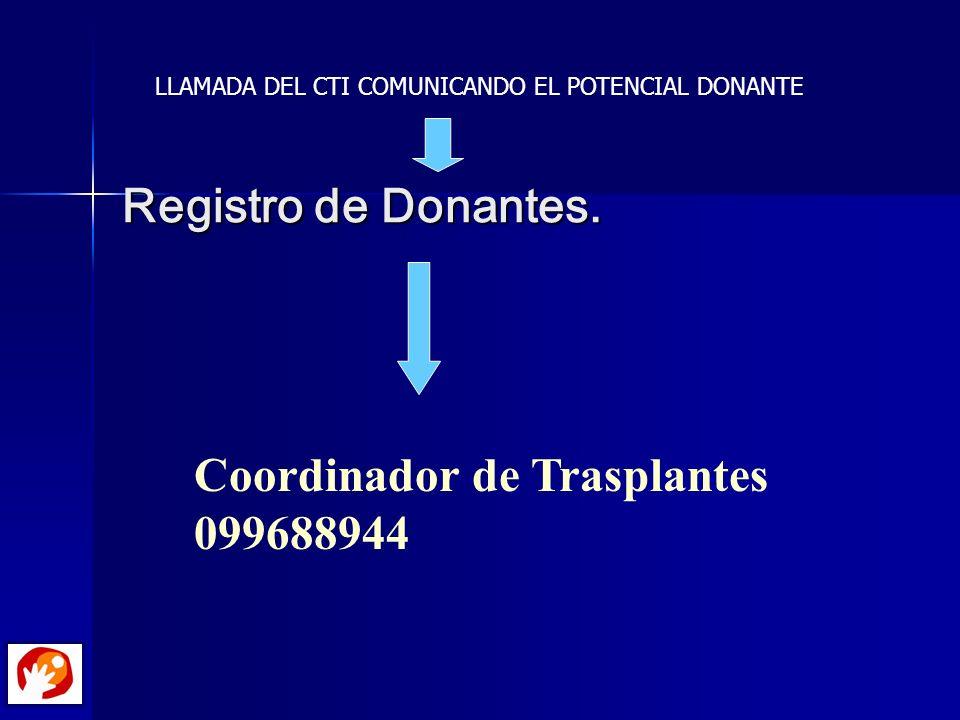Coordinador de Trasplantes 099688944