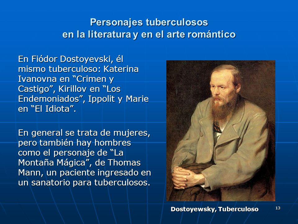 Personajes tuberculosos en la literatura y en el arte romántico