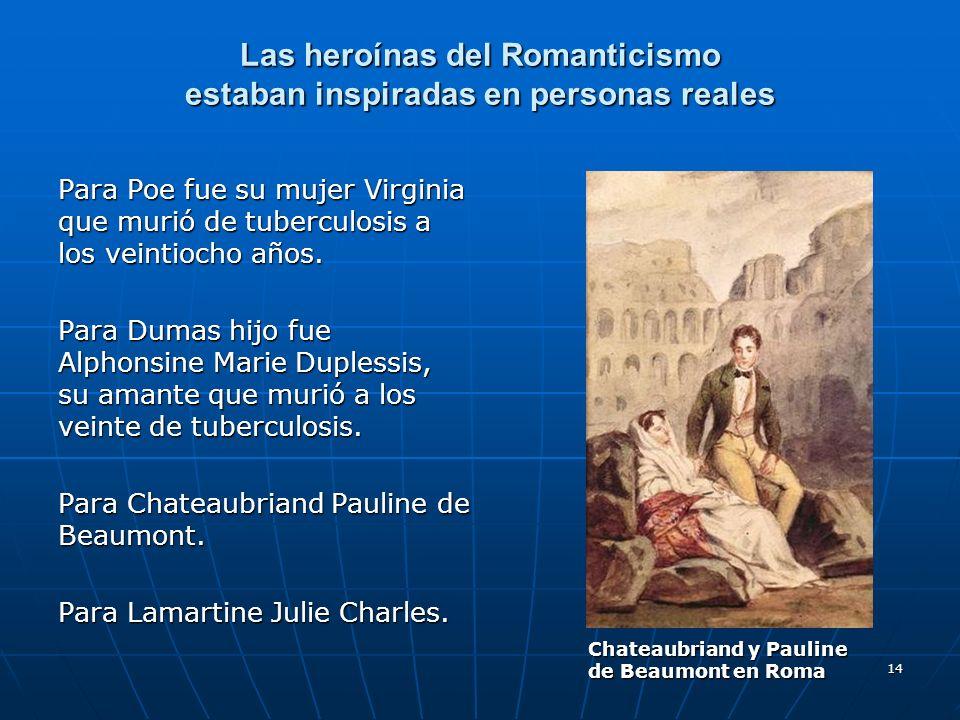 Las heroínas del Romanticismo estaban inspiradas en personas reales