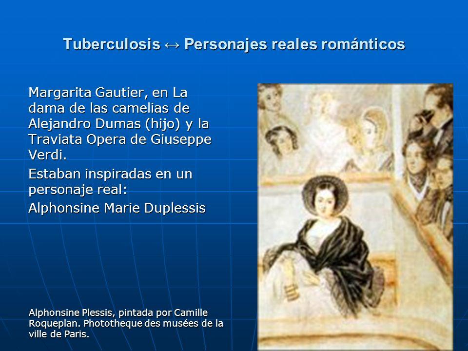 Tuberculosis ↔ Personajes reales románticos