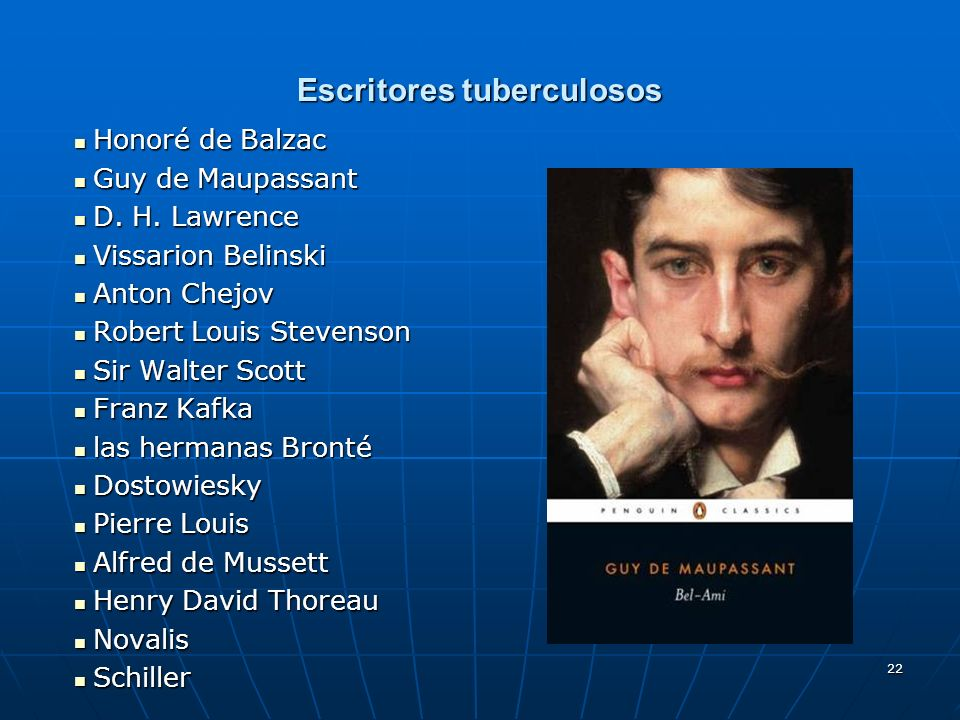 Escritores tuberculosos
